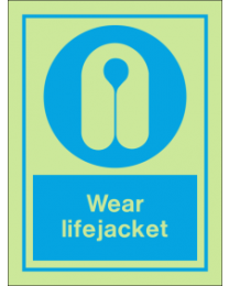 Wear Lifejacket IMO Sign