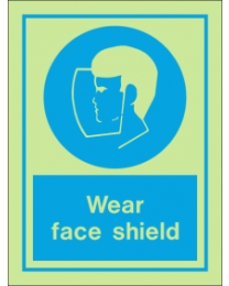 Wear Face Shield IMO Sign