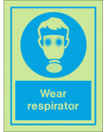 Wear Respirator IMO Sign
