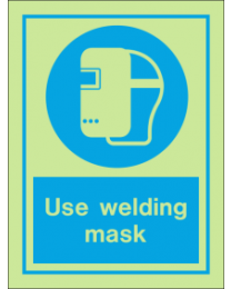 Use Welding Mask IMO Sign