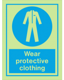 Wear Protective Clothing IMO Sign