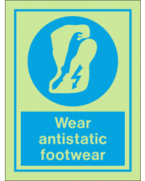 Wear Antistatic Footwear IMO Sign