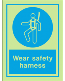 Wear Safety Harness IMO Sign