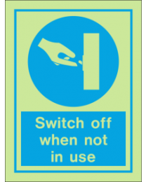 Switch Off When Not In Use IMO Sign