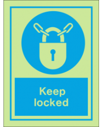 Keep Locked IMO Sign