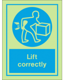 Lift Correctly IMO Sign