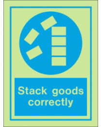 Stack Goods Correctly IMO Sign