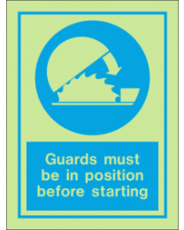 Guards Must Be In Position Before Starting IMO Sign