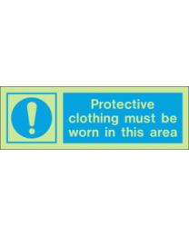 Protective Clothing Must Be Worn In This Area IMO Sign