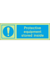 Protective Equipment Stored Inside IMO Sign