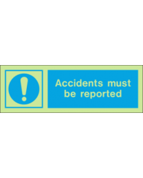 Accidents Must Be Reported IMO Sign