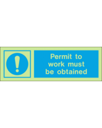 Permit To Work Must Be Obtained IMO Sign