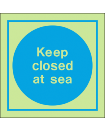 Keep Closed At Sea IMO Sign