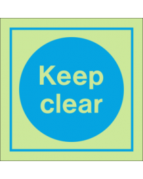Keep Clear IMO Sign