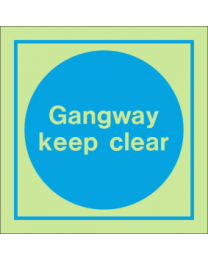 Gangway Keep Clear Sign