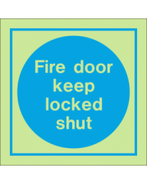 Fire Door Keep Locked Shut IMO Sign