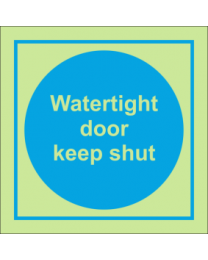Watertight dooor keep shut sign