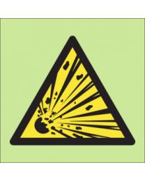 Warning explosive sign