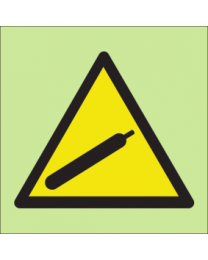 Warning compressed gas sign