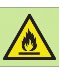 Warning flammmable sign