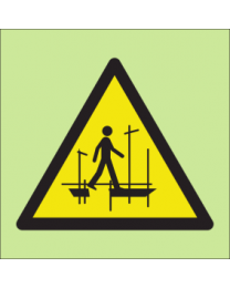 Warning scaffold incomplete sign