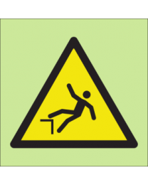 Warning risk of falling sign