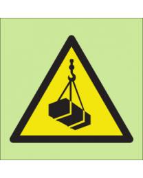 Warning overhead loads sign