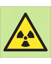 Warning radioactive material sign