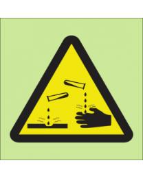 Warning corrosive sign