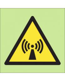 Warning non-ionising radiation sign
