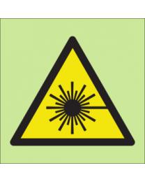 Warning laser aperture sign