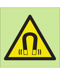 Warning magnetic field sign