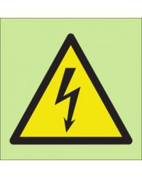 Warning high voltage sign