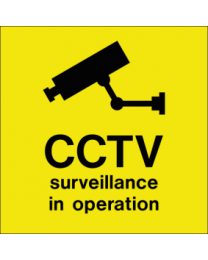 CCTV surveillance in operation sign