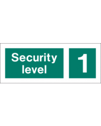 Security level 1 sign