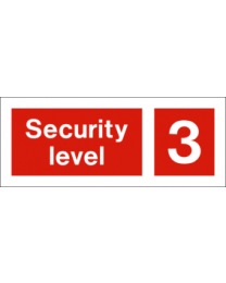 Security level 3 sign
