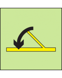 B-class hinged self-closing fire door sign