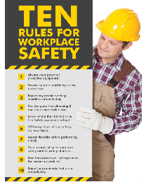 Rules For Workplace Safety Poster