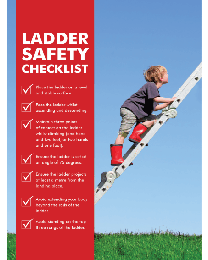Ladder Safety Checklist Poster
