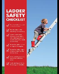 Ladder Safety Checklist Poster