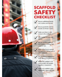 Scaffold Safety Checklist Poster