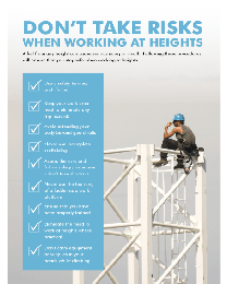 Working At Height Safety Poster