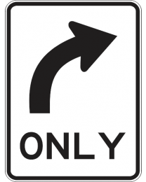 All Traffic Turn (R) Sign