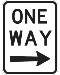 One Way (R) Sign