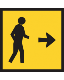 Pedestrians Sign (Right)