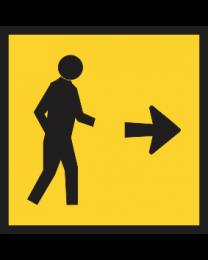 Pedestrians Sign (Right)