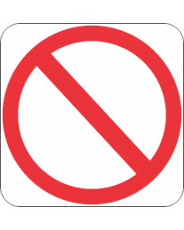 Prohibited Sign