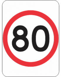 Speed Restriction (80Km) Sign