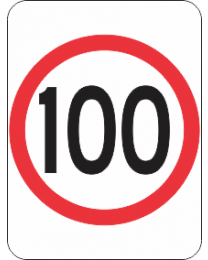 Speed Restriction (100Km) Sign