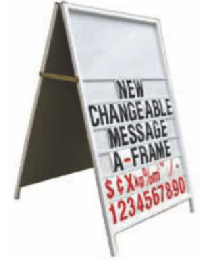 Changeable Message A-Frame 600mm x 900mm